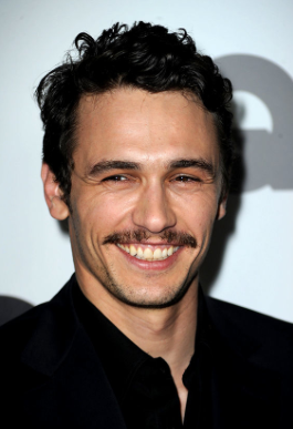 James Franco, so sexy that not even a 70's dad mustache could make him less attractive.